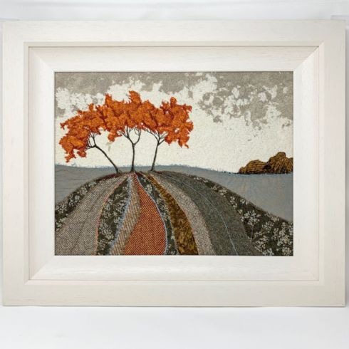 in klöver | ni design - Eileen McNulty - 'Golden Trees' Original Textile & Embroidery